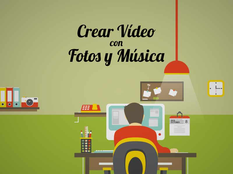 Crear video con fotos y música
